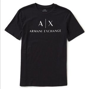 Armani Exchange black graphic tee